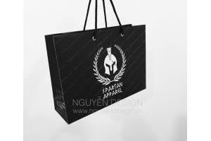 Túi giấy Ivory 250gsm, quai vải đen