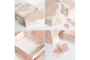 Bộ hộp giấy, túi giấy Ivory đựng trang phục